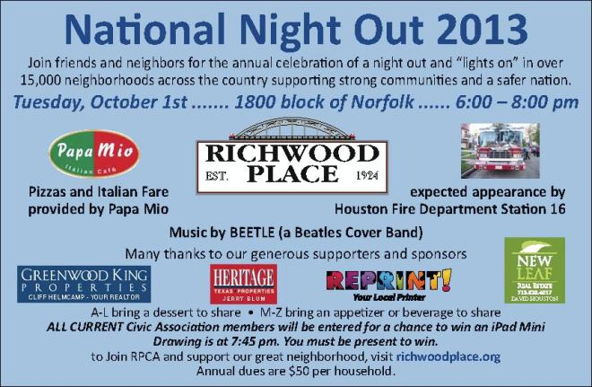 Richwood Place Natl Night Out